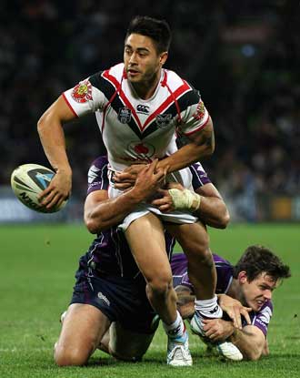Shaun Johnson proved decisive for the Warriors against the Storm. Photo: Getty