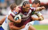 Manly's Steve Matai during his side's big win.