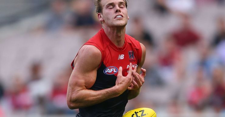 Jack Watts drops a chest mark against West Coast.