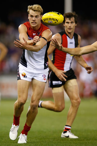 Promising start: Watts had a good game in the midfield in round one. Photo: Getty