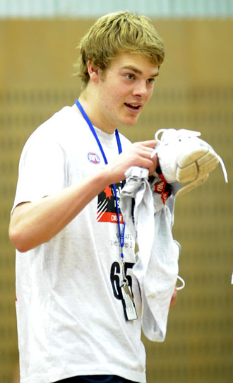 Young Jack at the 2008 draft camp, after which he was first picked. Photo: AAP