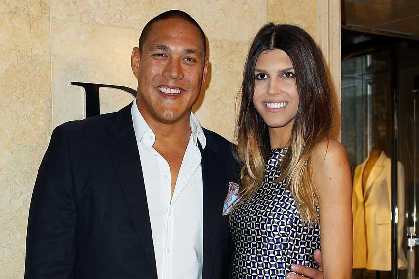 Geoff Huegill and wife Sara