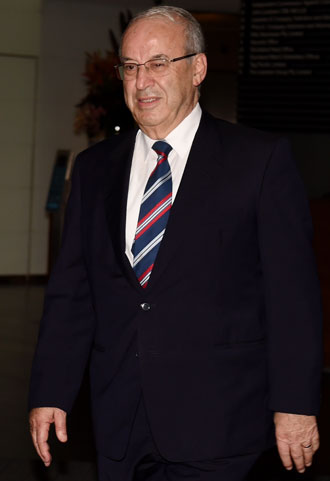 Eddie Obeid outside ICAC. Photo: AAP