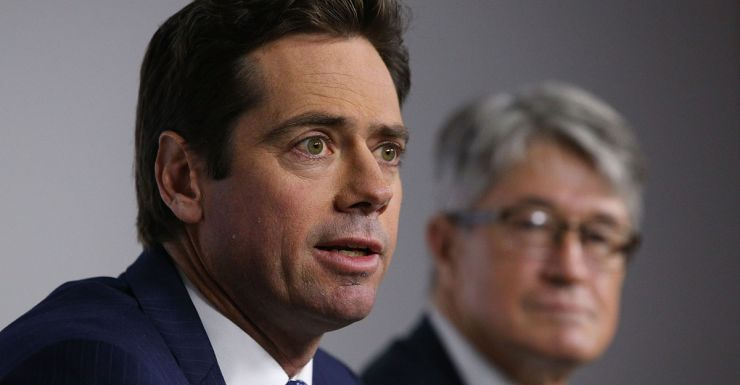 Gillon McLachlan and his president, Mike Fitzpatrick.