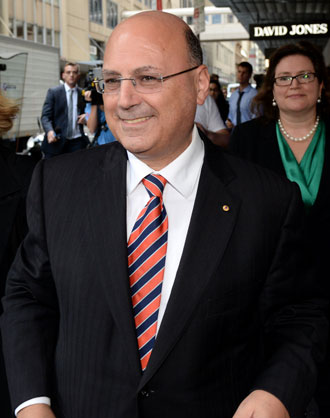 Arthur Sinodinos at ICAC. Photo: AAP