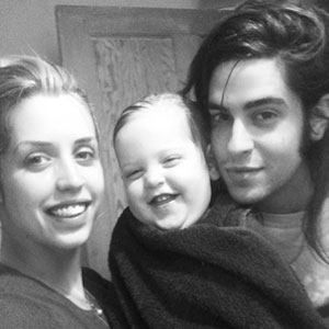 A photo Peaches shared on her Instagram of herself, her husband and her son.