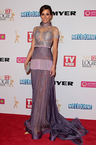 Rebecca Judd arrives at Crown Palladium. Picture: Getty
