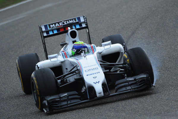 A Williams Formula One car in action. Photo: Getty