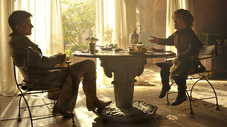 Jaime and Tyrion Lannister share a lunch. Photo: HBO