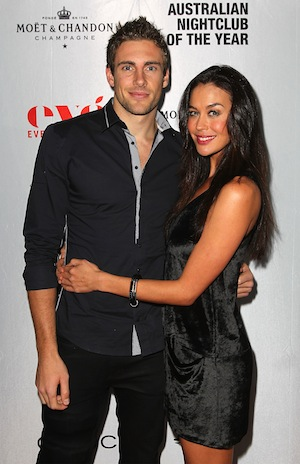 Shaun Hampson and Megan Gale in 2012.