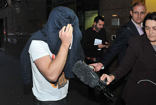 Lukas Kamay leaves the Melbourne Magistrates' Court on Friday. Source: AAP