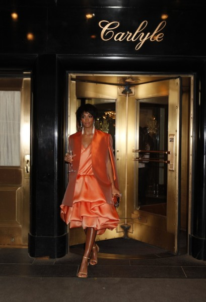 Solange Knowles before the Met Gala at the Carlyle hotel in New York.