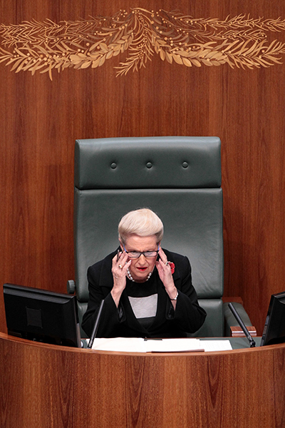 Speaker Bronwyn Bishop was criticised over the use of her official dining suite.
