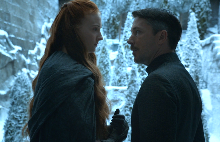 Lord Petyr Baelish makes his intentions with Sansa clear.