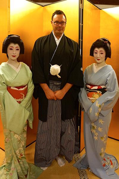 Sake samurai Andre Bishop.