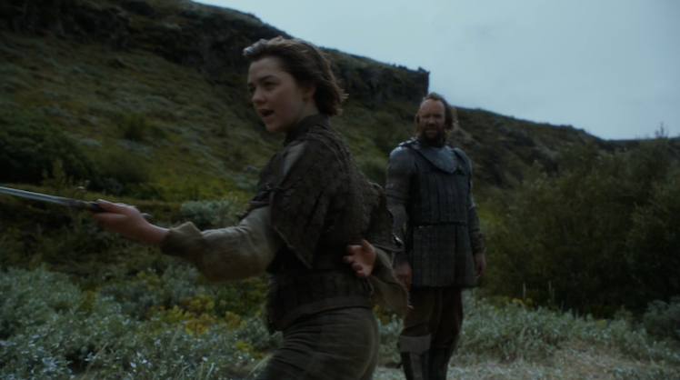 Arya and the Hound's relationship regresses. Photo: HBO