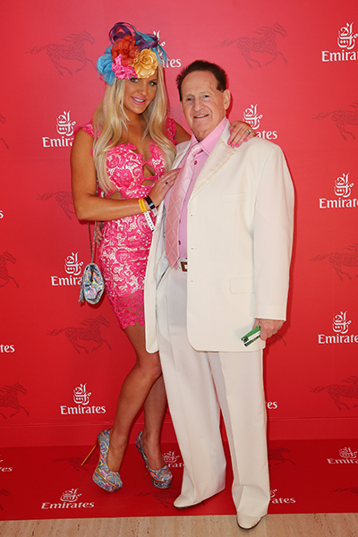 Brynne and Geoffrey at the Emirates marquee on Melbourne Cup Day.