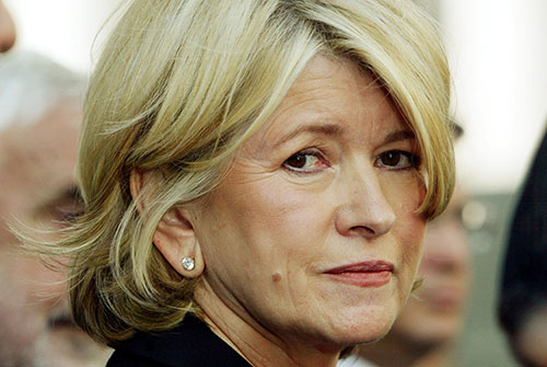 Celebrity home-maker Martha Stewart at her insider trading trial. Source: Getty.