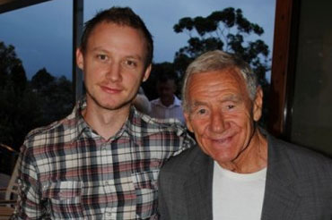 The author and Tommy Hafey.
