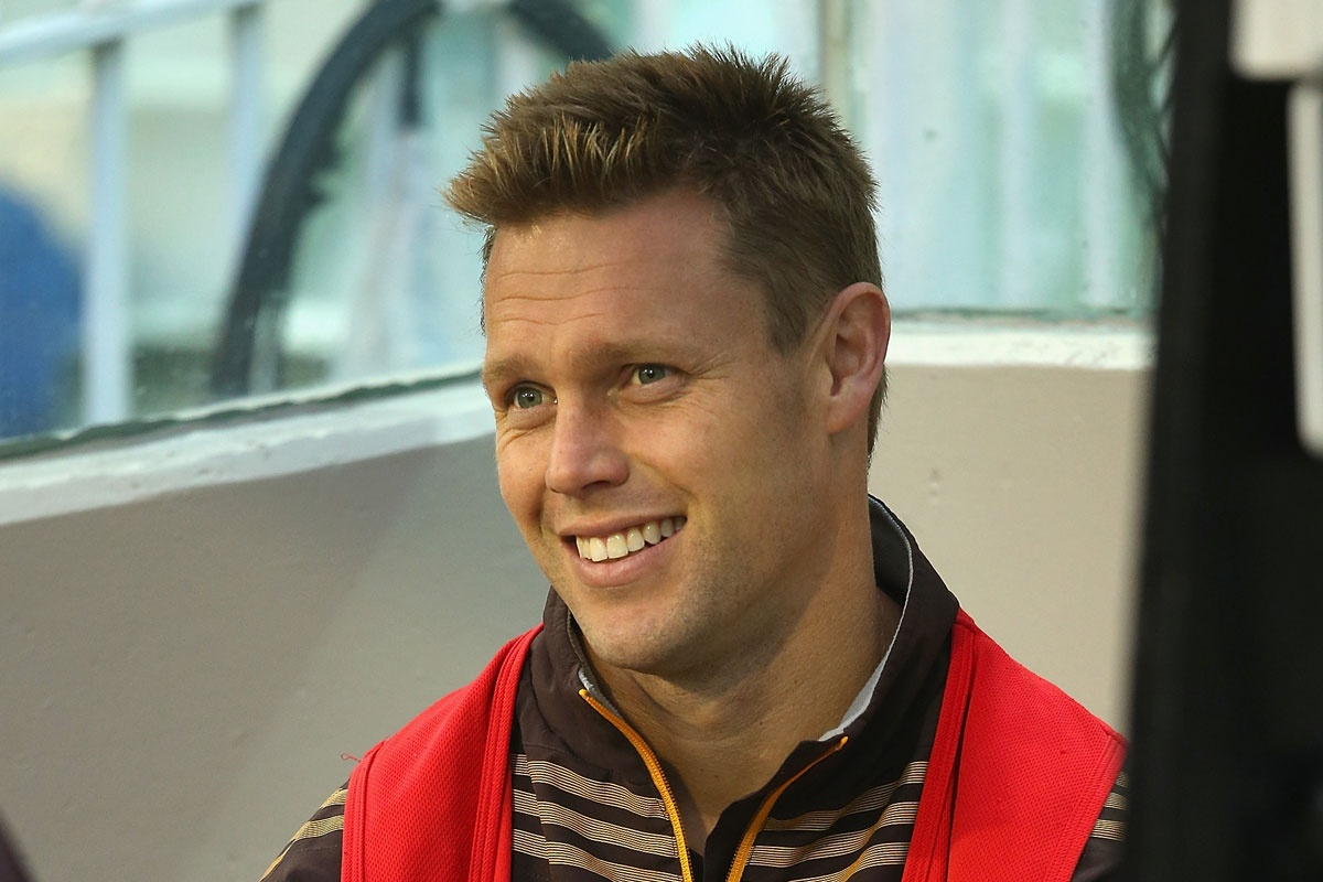 Sam Mitchell after being subbed out against St Kilda.