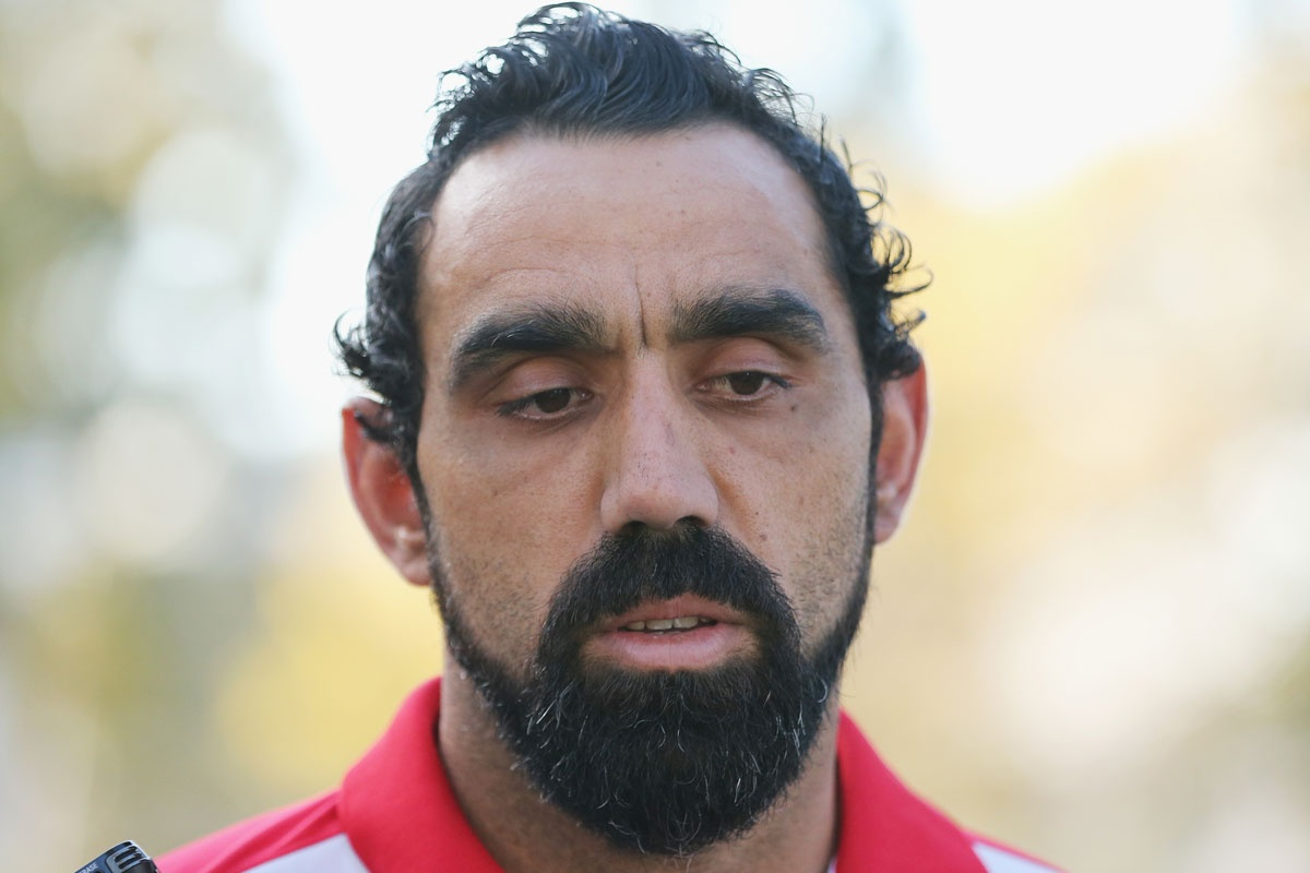 Adam Goodes: Friends don't make jokes like that.