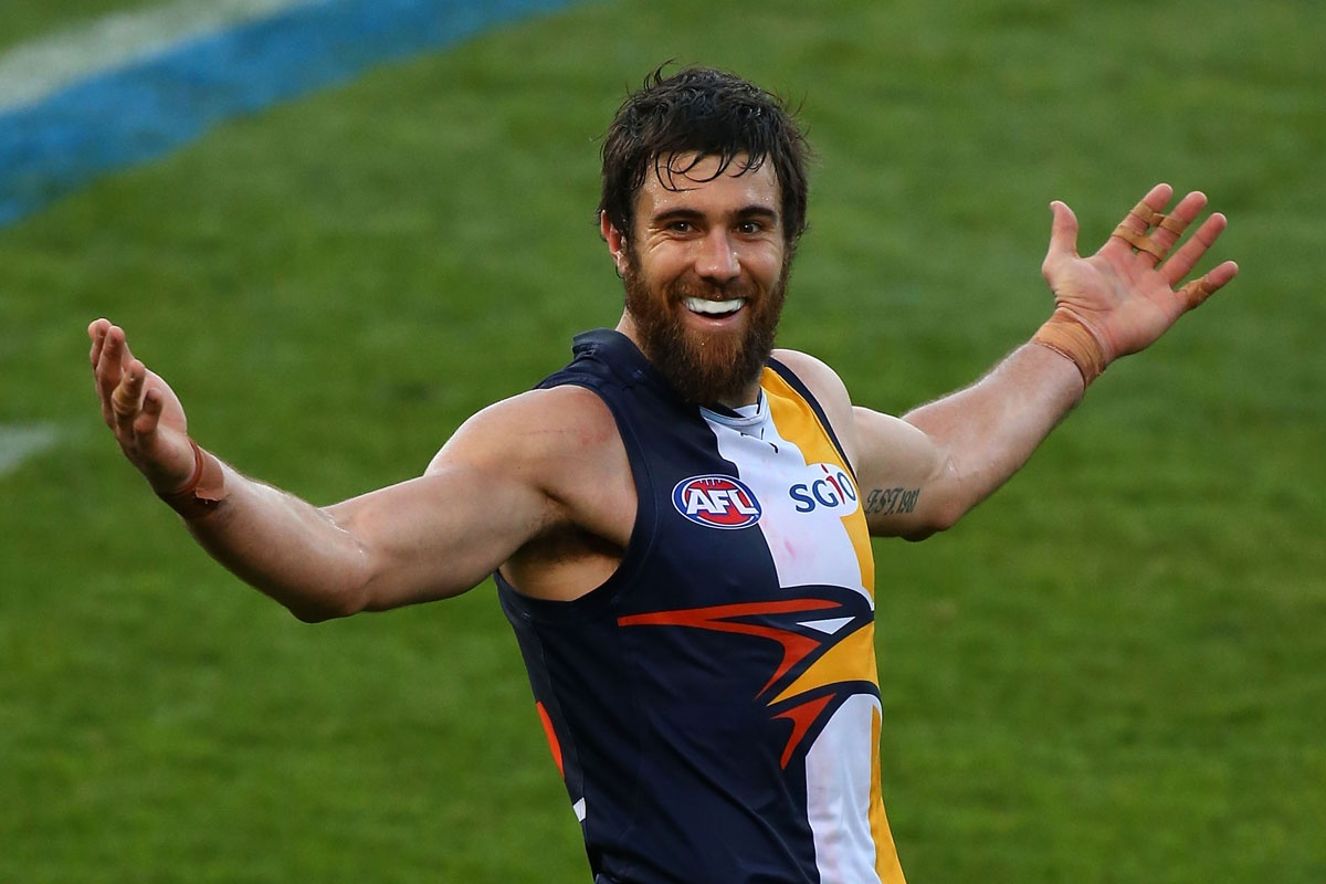 Josh Kennedy after booting his 10th goal.