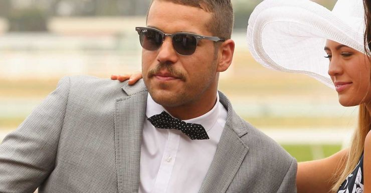 Buddy Franklin, fashion entrepreneur, at the races.