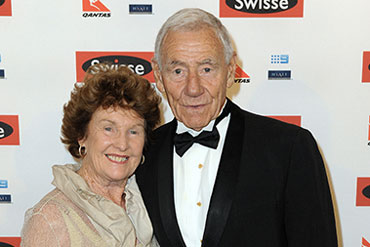Tommy and wife Maureen last year.