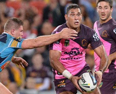 Justin Hodges was in scintillating form for the Broncos Photo: Getty