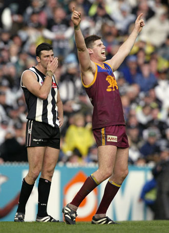 Jonathan Brown helped deliver three flags for Brisbane. Photo: Getty
