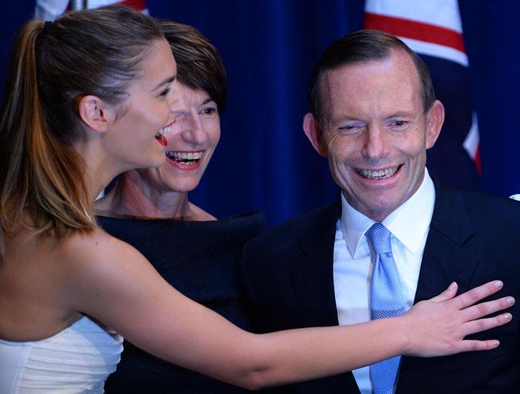 Tony and Frances Abbott on election night. Photo: Getty