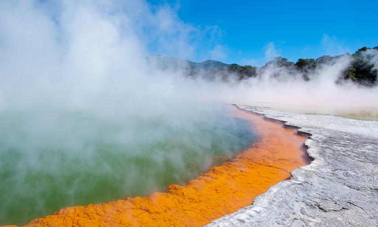 Rotorua is famed for its famed for bubbling mud pools.