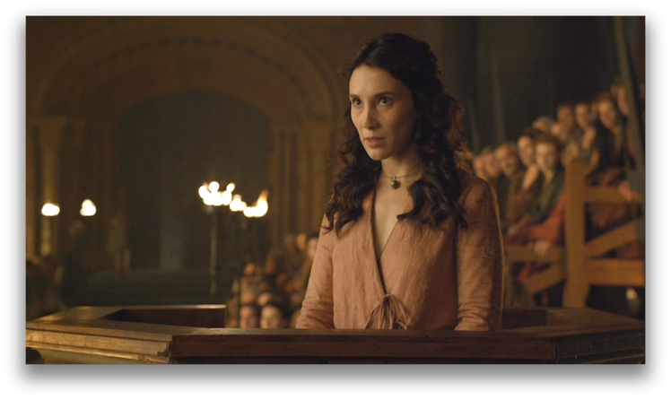 Shae returns to speak against the man she once loved. Photo: HBO