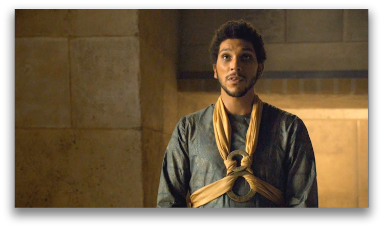 Hizdahr zo Loraq asks for mercy. Photo: HBO