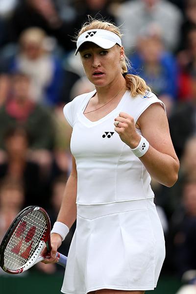 Ukraine-born Baltacha won 11 singles titles.