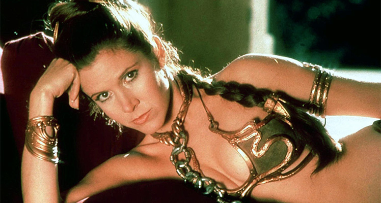Carrie Fisher as Princess Leia in Return of the Jedi. Photo: AAP