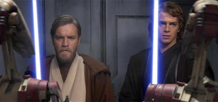 Ewan McGregor and Hayden Christensen in a scene from Star Wars Episode 3 - Revenge of the Sith. Photo: AAP