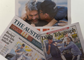 Photos of the fight were splashed across national front pages.