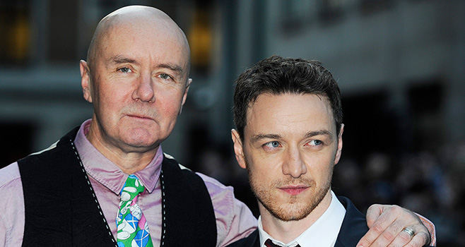 With James McAvoy at the premiere of Filth in 2013. Photo: Supplied