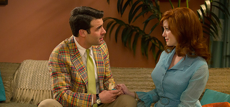 Bob proposes to Joan, who promptly turns him down saying she is looking for real love. Photo: AMC