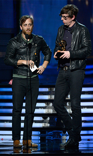 The duo picked up three Grammy Awards in 2013 for the album El Camino. Photo: Getty
