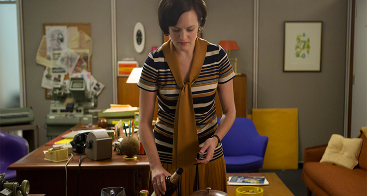 The tables have turned and Peggy (Elisabeth Moss) is now Don's boss. Photo; Supplied