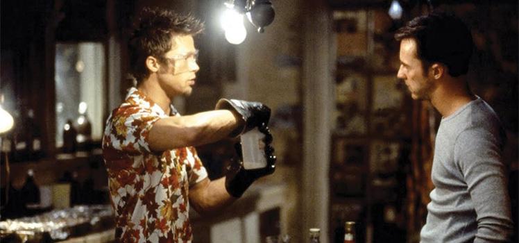 Brad Pitt and Edward Norten in Fight Club. Photo: Supplied