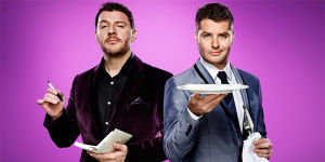 Manu Feildel and Pete Evans from MKR. Photo: Supplied