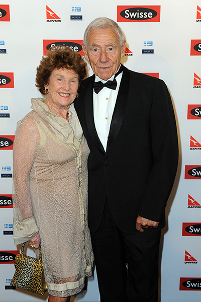 Hafey and wife Maureen in 2013.