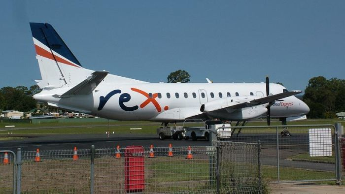 It is the second problem with a Rex Airlines flight this week.