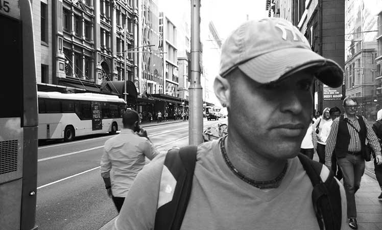 Ben Lowy on the streets of Sydney.
