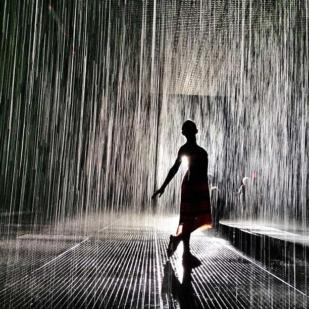 MOMA Rain Room, New York City.