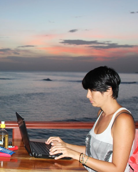 Serena Star Leonard at work in Nicaragua.