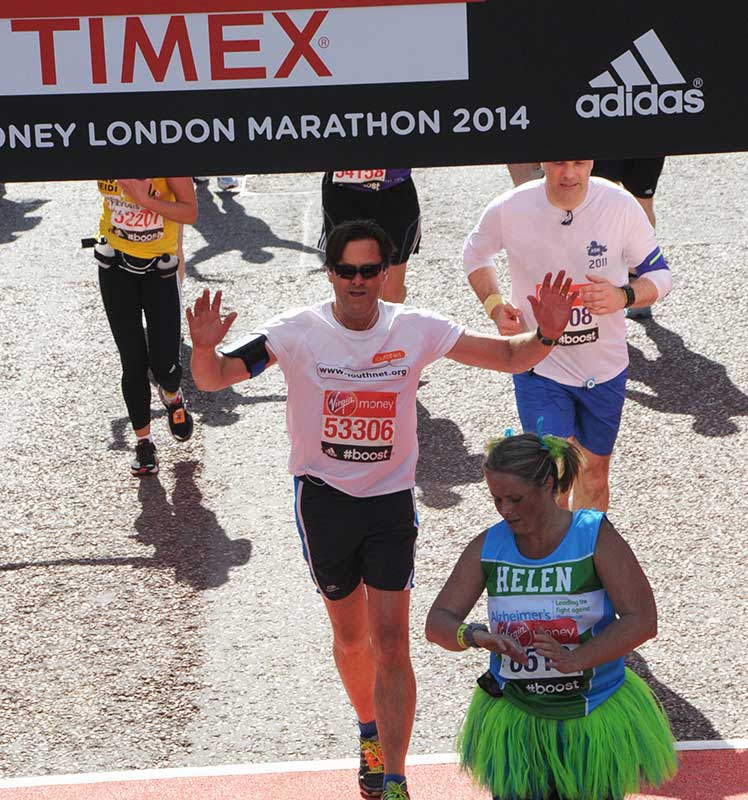 The author crosses the finish line.